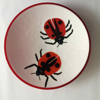 ANGELA BRADY Ladybirds Chase - Fuse Glass - 40 cm diameter - €360