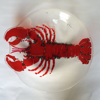 ANGELA BRADY Lobster Plate - Fuse Glass - 30 cm diameter - €240
