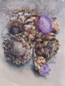 ANN MARTIN ~ Autumn Artichokes Kilcoe, Co.Cork 2014 - watercolour - 52 x 38 cm - €2500