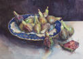 ANN MARTIN ~ Garden Figs Kilcoe, Co.Cork 2014 - watercolour - 37 x 48 cm - €2500