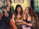 ANN MARTIN - Our Ladies of the Snug - oil on linen - 82 x 112 cm - €24,000