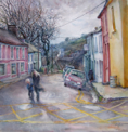 ANN MARTIN ~ Pier Road Schull, Co.Cork - watercolour - 44 x 43 cm - €5000