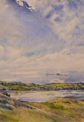 ANN MARTIN ~ The Bay to Lisheen Kilcoe, Co.Cork 2015 - watercolour - 25 x 26 cm - €800