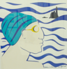 AYELET LALOR - Bather with Blue Hat - silk screen - edition 1/4 - 50 x 50 cm - unframed €150