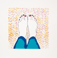 AYELET LALOR ~ Feet on Hospital Sheet - edition of 5 - 46 x 54 cm - framed €250, unframed €190