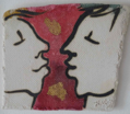 AYELET LALOR ~ Lovers - ceramic - 24 x 24 cm - €65
