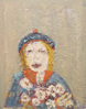 BILL GRIFFIN - Girl with Flowers - oil on canvas - €2900