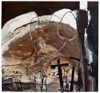 CATHERINE WELD ~ After Fire - mixed media on paper - 76 x 81 cm -€800