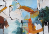 CATHERINE WELD - Coomhola River - oil, charcoal & pencil on paper - 44 x 55 cm - €300- SOLD