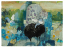 CATHERINE WELD  - Fragile Island 7 - mixed media on paper - 62 x 81 cm - €800