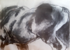 CATHERINE WELD - Horse - charcoal on paper - €450