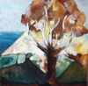 CATHERINE WELD - Sugar Loaf Tree - oil on canvas - 40 x 40 cm - €450