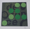 CHRISTINA JASMIN ROSER - Defence in Green - textile - 30 x 30 cm - €240