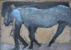 CHRISTINE THERY - Blue Horse - oil on canvas - 25.5 x 35.5 cm - €480