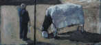CHRISTINE THERY - A Bucket and a Bed Sheet - oil on canvas - 25 x 56 cm - €1100