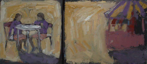 CHRISTINE THERY - Carousel - oil on canvas - diptych 20 x 45 cm - €480
