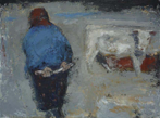 CHRISTINE THERY - Checking for Calves - oil on canvas - 76 x 102 cm - €3100
