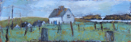 CHRISTINE THERY - Where Cattle still walk the roads, Long Island - oil on canvas - 40 x 120 cm - €1600 - SOLD