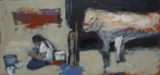 CHRISTINE THERY - Four Buckets & a Book - oil on canvas - 25 x 51 cm - €750