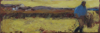 CHRISTINE THERY - Harvest Sun - oil on canvas - 20 x 60 cm - €380 - SOLD