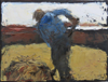 CHRISTINE THERY - Haymaking, Distant Sea - oil on canvas - 18 x 24 cm - €350 - SOLD