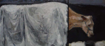 CHRISTINE THERY - Holy Cow - oil on canvas - diptych 25.5 x 56 cm - €1200