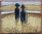 CHRISTINE THERY - Island Couple - oil on canvas - 20 x 25 cm - €450