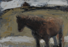 CHRISTINE THERY ~ Island Pony - oil on canvas on board - 25 x 35.5 cm - SOLD