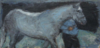 CHRISTINE THERY - Leading the Man - oil on canvas - 25 x 51 cm - €630