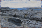 CHRISTINE THERY - Pavements of Inishmore - oil on canvas - 50 x 76 cm - €2100