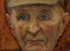 CHRISTINE THERY ~ Portraits of Farmer 1 - oil on canvas - 13 x 18 cm - SOLD