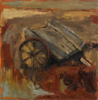 CHRISTINE THERY - Red Cart - oil on canvas - 100 x 100 cm - €2500