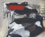 CHRISTINE THERY - Red Towel - oil on canvas - 25 x 30 cm - €450