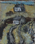 CHRISTINE THERY - Road to the Bridge - oil on canvas board - 25 x 20 cm - €450