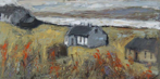 CHRISTINE THERY - The House Between - oil on canvas - 31 x 61 cm - €880