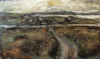 CHRISTINE THERY ~ The Road to Paris - oil on canvas - 91 x 153 cm - SOLD