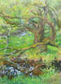 DAMARIS LYSAGHT ~ Animal Spirit Tree - Oil on Canvas on Board - 40 x 30 cm - €725