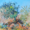 DAMARIS LYSAGHT - Autumn, Coolcaha 3 - oil on plywod - 15 x 15 cm - €285