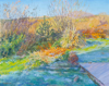 DAMARIS LYSAGHT - Frosty April Morning, Coolcaha - oil on canvas on panel - 41 x 50 cm - €1185