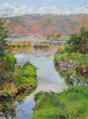 DAMARIS LYSAGHT ~ - Greenmount River, Downstream - Oil on Canvas on Board - 40 x 30 cm - €925