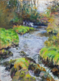 DAMARIS LYSAGHT ~ - Greenmount River, Upstream - Oil on Canvas on Board - 40 x 30 cm - €925
