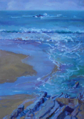 DAMARIS LYSAGHT ~ Rip Currents, Trá na Searrach - Oil on Board - 30 x 20 cm - €590