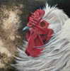 DIANA KINGSTON ~ Gubbeen Hen II - mixed media on canvas - 20 x 20 cm - €275