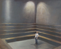 DIARMUID BREEN   - Here I stand (study) - oil on board - 45 x 57 cm - €500