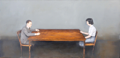 DIARMUID BREEN - The Conversation - oil on canvas - 30 x 40 cm - €1800