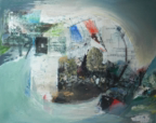 DICK RICHARDS - Dystopia - mixed media on canvas - 40 x 50 cm - €300