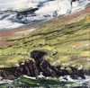 DONAGH CAREY - Balliskelligs Coast - oil on board - 15 x 15 cm - €295 - SOLD