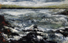 DONAGH CAREY ~ Ripped Tide III - oil on board - 14 x 22 cm - SOLD
