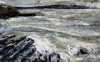 DONAGH CAREY ~ Ripped Tide II - oil on board - 14 x 22 cm - SOLD