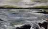 DONAGH CAREY ~ Ripped Tide I - oil on board - 14 x 22 cm - €245